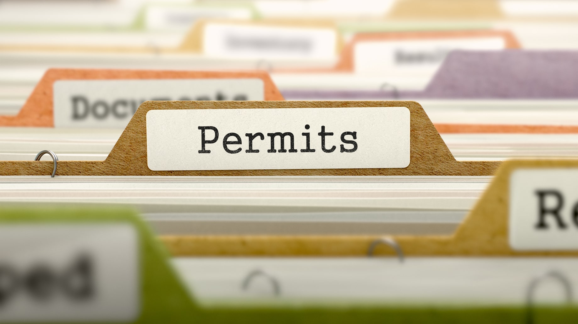Permits Concept on Folder Register.