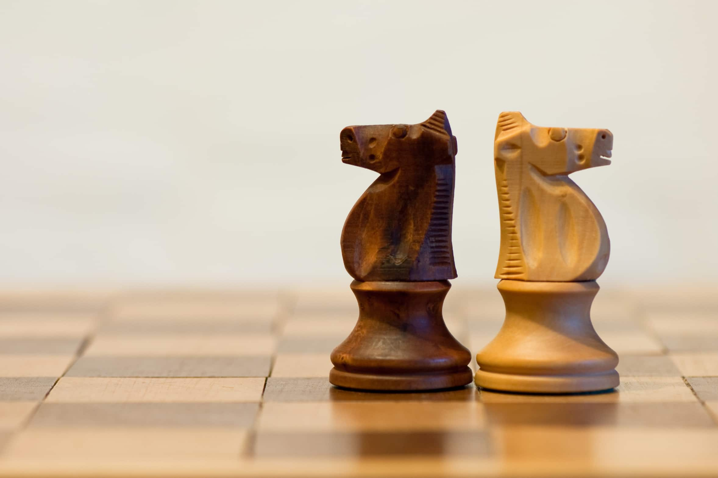 two knights on a chessboard